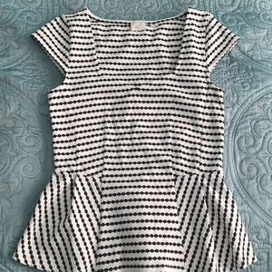 Anthropologie Postmark Peplum Top Shirt Size Small